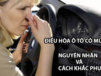điều hòa ô tô có mùi hôi