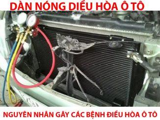 dàn nóng điều hòa xe ô tô